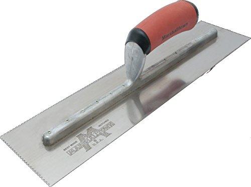 Marshalltown 642SD Fratasadora de ángulo Completo, Radio 19 mm, Labio 22 mm, para Suelo y hormigón, de Acero Inoxidable, Dimensiones: 254x152 mm, plata, 279x114 mm
