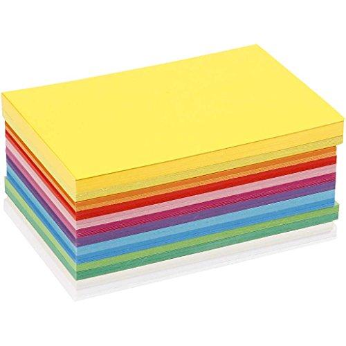 Colortime - Juego de 120 tarjetas de cartulina, varios colores