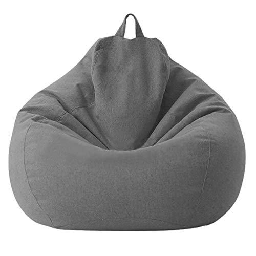 Hanone Sitzsack Sofa Abnehmbare und waschbare Sofabezug mit Innenfutter ohne Füllungen Dunkelgrau 70 * 80CM