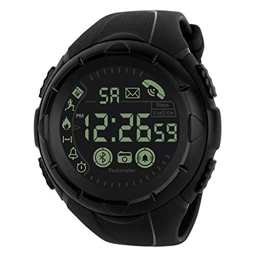 DAYLIN Reloj Inteligente Hombre Mujer Reloj Chica Joven DeportivoReloj de Pulsera Digital Android y iOS Reloj Fitness Smart Sport Watch con Cronógrafo Militar Esfera Grande Resistente al Agua