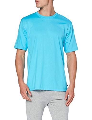 Trigema T-Shirt Deluxe Camiseta, Azul (Azur 051), 4XL (Talla del Fabricante: XXL) para Mujer