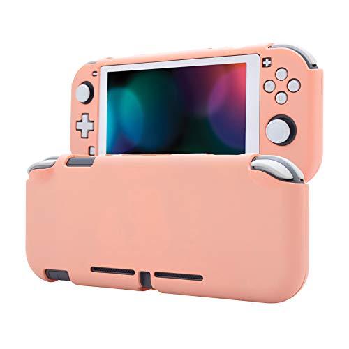 eXtremeRate PlayVital Soft Touch Mandys Pink Funda de Protección para Nintendo Switch Lite, Carcasa Duradera para Nintendo Switch Lite / NSL - 1 x Protector de Pantalla de Vidrio...