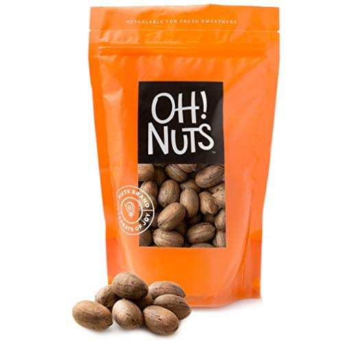 Oh! Nuts Pecans in Shell | Low-Carb, High-Protein Keto Snacks | Resealable Stay-Fresh 2-Pound Bulk Bag | All-Natural, Premium Nuts in Shell Without Salt or Sugar | Healthy Vegan, Gluten-Free Snacking