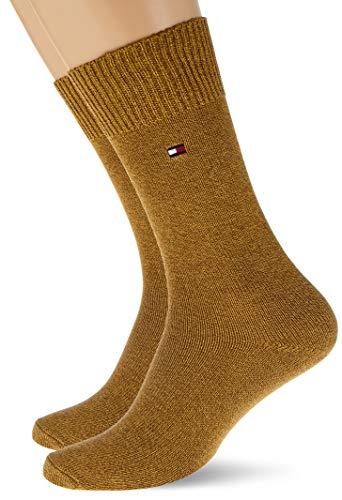 Tommy Hilfiger Mens TH 2P Basket Socks, Highland Khaki, 43/46 (2er Pack)