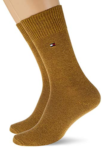 Tommy Hilfiger Mens TH 2P Basket Socks, Highland Khaki, 43/46 (2er Pack)