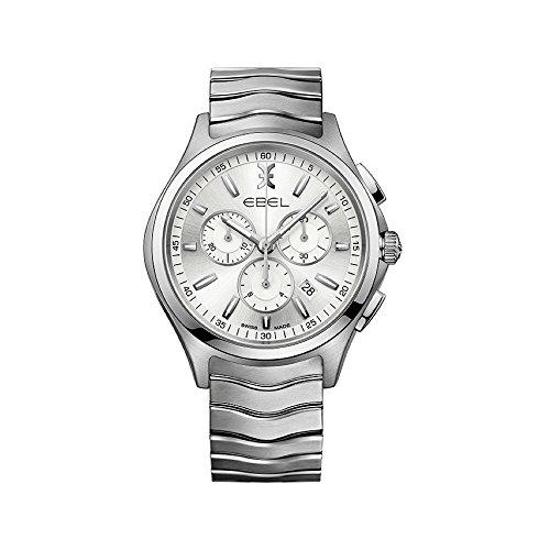 Ebel Herren Chronograph Quarz Uhr mit Edelstahl Armband 1216340
