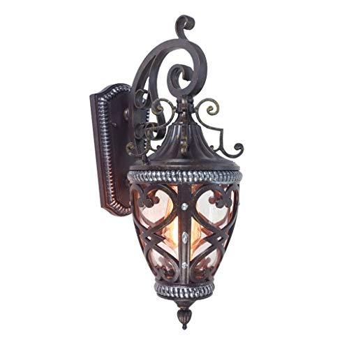 Buitenlamp, roest, waterdicht, ZS, buitenverlichting, LED-lamp, waterdicht, bevestiging aan de muur, klassieke stijl, E27, wandlantaarn voor hal, deur, muur, buiten, Alim