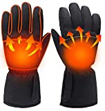 Heated Gloves, Electric Battery Waterproof Winter Thermal Gloves for Men and Women Outdoor Indoor Sports Activities Cycling Riding Skiing Skating Hiking Hunting