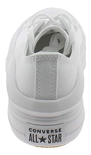 CONVERSE Chuck Taylor All Star OX Platform Zapatos Deportivos para Mujer Blanco 570257C