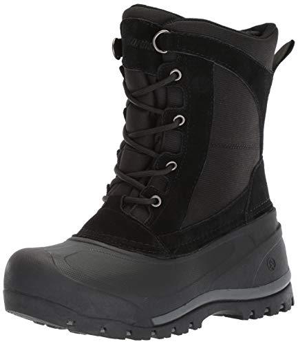 Northside Men's MT. Baker Snow Boot, Black, 13 Medium US