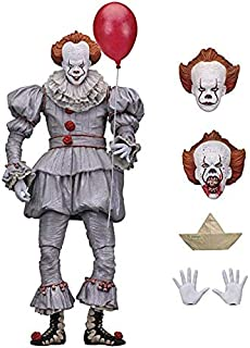 PAPIN Pennywise Figure 7 inch Hot Toys IT 2017 Ultimate Scale Action Figures Horror Mini Model Doll Exclusive PVC Toy Halloween Christmas Collectible Collectable Gifts Collectibles Gift for Kids Baby