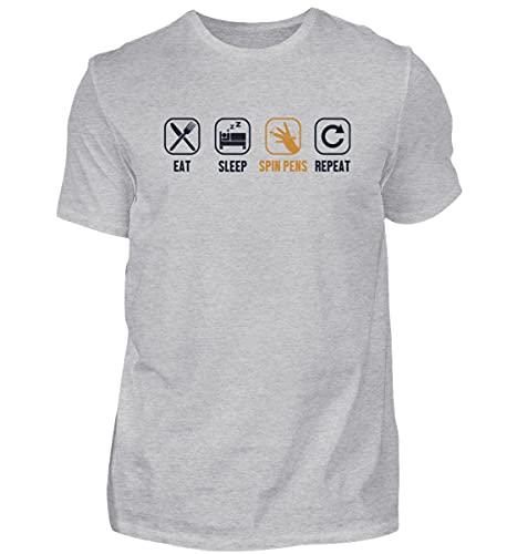 Pen Spinning Thumbaround | 01484 - Camiseta para hombre, gris, XXXXXL