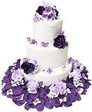 TheBridesBouquet.com Wedding Cake Topper   Purple and Lavender Wedding Decorations for Reception  ...