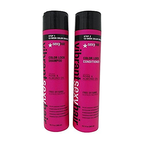 Sexy Hair Vibrant Sexy Color Lock Shampooing sans sulfate 300 ml et après-shampoing 300 ml