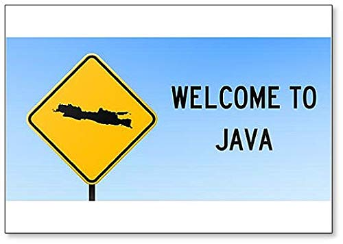 Java Map on Road Sign Illustration Koelkast Magneet
