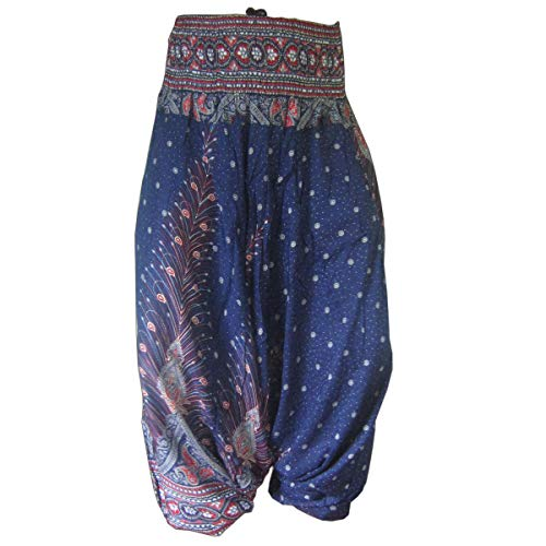 PANASIAM Aladin Pants, Print-Design-Style: Peacock v05
