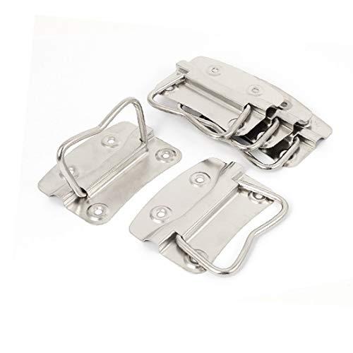 X-DREE Caja de metal montada al ras Tipo Caja de herramientas Tronco de cofre 3.5' 'Longitud 5pcs (boîte type montée par métal affleure poignées coffre coffre outil 3.5' longueur 5pcs