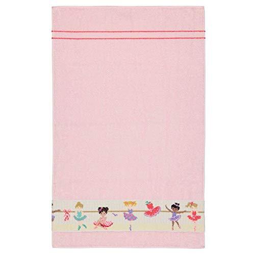 Feiler Handtücher Ballerina Border rosa, Handtuch 50x80 cm