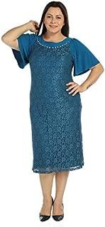 Nidya Moda Kadın Çiçek Aksesuarlı Dantel Abiye Elbise