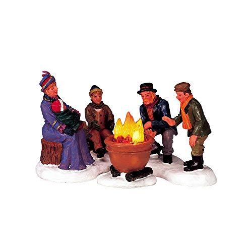 2004 Bonfire Set of 3 Lighted Christmas Village Figurines