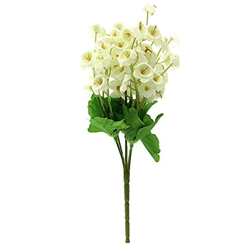 CUHAWUDBA 2 Pcs de Ramo de Flor Artificial de Muguet Flores Plantas...
