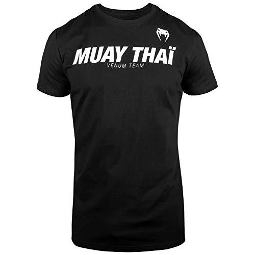 Venum Muay Thai Vt Camiseta, Hombre, Negro/Blanco, XL