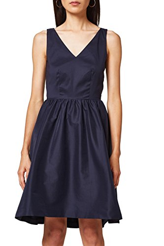 ESPRIT Collection Damen 048EO1E016 Kleid, Blau (Navy 400), 36