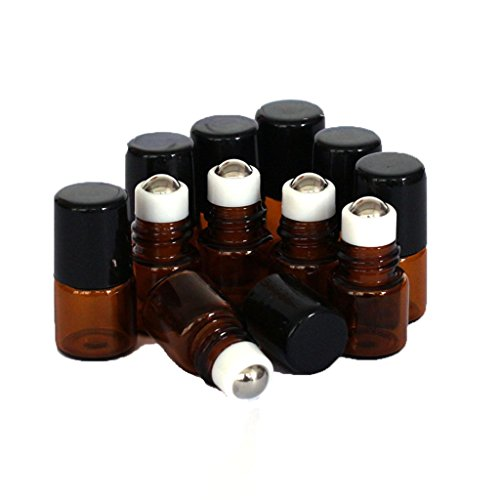 San Bodhi® Lot de 10 flacons vides en verre pour huiles essentielles, liquides, 1 ml