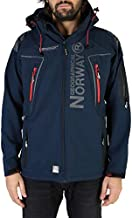 Geographical Norway Men's Techno Navy Blue Bomber Coat Jacket (M)