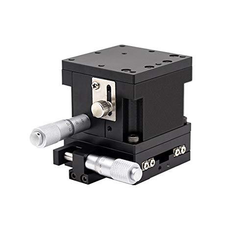 Hensdd 60X60mm Etapa Lineal Manual, XZ 2 Etapa del Eje Óptico De Precisión del Ajuste De La Plataforma, Manual Micrómetro Tabla De Diapositivas, 3 Kg De Carga