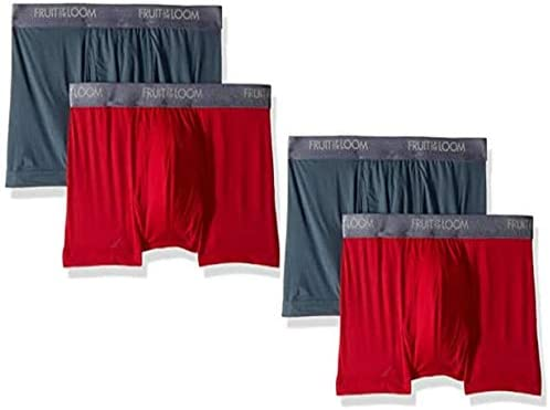 Fruit of the Loom Men's 3-Pack Everlight Boxer Briefs Underwear (Assorted - 4PK