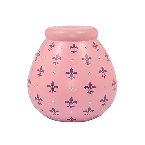 Fleur de Lys Pots de Rêves Tirelire pour économiser jusqu'& Smash Argent Boîte Cadeau