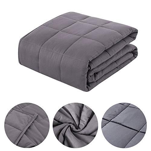 Hengda Gewichtsdecke Therapiedecke Weighted Blanket Standard Beschwerte Decke Mikrofiber, Füllmaterial Premium Glaskügelchen, Schlaftiefe zu verbessern (dukelgrau, 104 x 153CM-4,5KG)