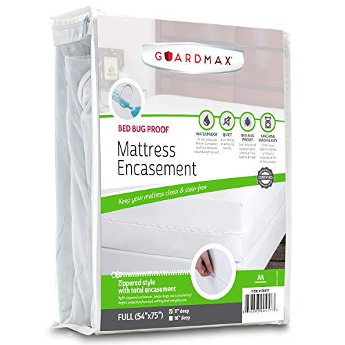 Guardmax Full Mattress Protector Cover Zippered | 100%...