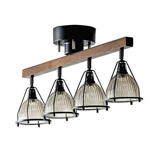 エア・リゾーム シーリングライト led 電球対応 リモコン ガラス 天井照明 4灯シーリングライト JUKE(ジューク) ブラック