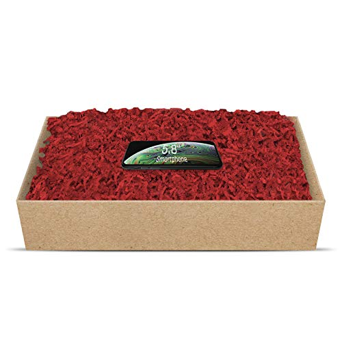 SizzlePak umweltfreundliches Papierfüllmaterial viele Farben 125g-1kg (tief-rot, 500g)