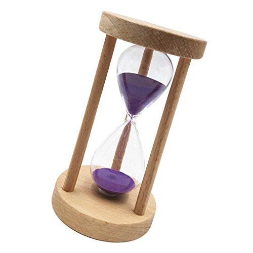 MagiDeal Sabliers Minuterie Horloge de Sable Hourglass en Bois Verre Sable Désigné Pour Jeux Cuisine Exercice - 15 Minutes--Violet