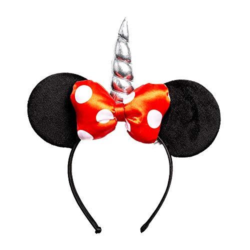 Disney Minnie Mouse Ears - Diadema de unicornio para disfraz (licencia oficial)