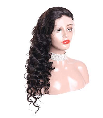 Perruques de mode Dentelle Frontal perruque Lace Front perruques de cheveux humains avec pré-plumé Hairline perruque de cheveux humains Perruques Natu