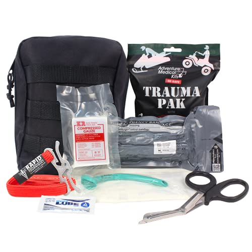 MediTac Tactical Trauma IFAK Kit Feat. Trauma Pack QuikClot, Israeli Bandage, RATS Tourniquet in IFAK Molle Pouch