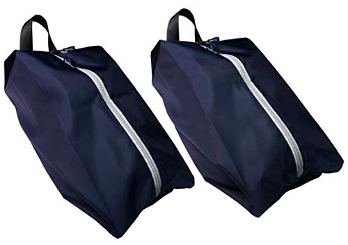 TRAVANDO ® Schuhtasche 2er Set - Wasserfeste Schuhbeutel Reise, Koffer, Gepäck - Schmutzabweisender Schuhsack Reise für Schuhe, Urlaub Shoebag Tasche zur Trennung von Schuhen und Kleidung Reisezubehör