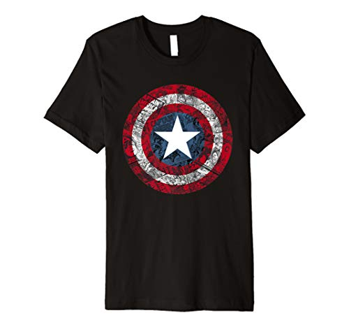 Marvel Captain America Avengers Shield Comic Graphic T-Shirt
