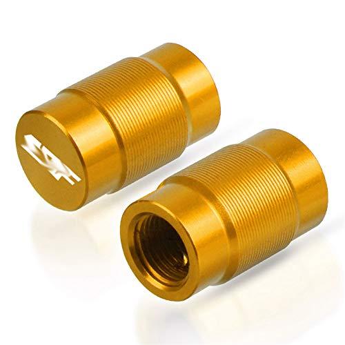 / Ajuste para HON.DA CRF50F 70F 80F CRF150R 230M / L CRF 250L / R Motocicleta Ruedas llantas Tallo Válvula de aire Caps Tapa de neumático Tapas de neumáticos Tapones de ruedas ( Color : Gold CRF )