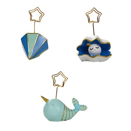 Grafts - Figura decorativa de resina de hierro, diseño de nubes de dibujos animados Ocean Series de metal con texto en inglés «Scrapbook de oficina, decoración de fotos, marco de adorno de 3 piezas