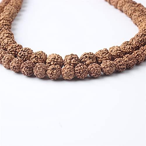 BEISHI 6/8 / 10mm Joyería Natural Vajra Bodhi Religión Nuez Flow Beads Adecuado para Hombres y Mujeres de DIY para cadenar Cuentas de Buda Pulsera de Piedra Natural