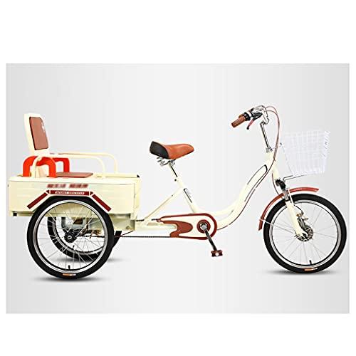OFFA 3 Wheel Bikes Adult Tricycle Seniors, Trike 20 Inch Three-Wheeled Cruise Bicycles Bike with...