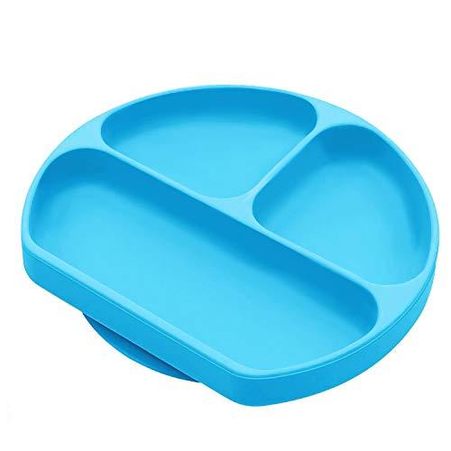 Portable Assiette Antiderapante pour Chaise Haute bleu Set de Table B/éb/é Plateau Enfant Repas Facile /à Nettoyer et Va au Lave-Vaisselle 100/% sans BPA Napperon en Silicone