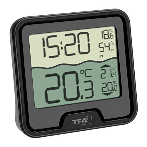 TFA Dostmann Marbella Funk-Poolthermometer, schwarz