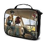 Bolsa de maquillaje de Iron Man con múltiples compartimentos, de gran capacidad, organizador de maquillaje de moda (24,9 x 80 x 19 cm)
