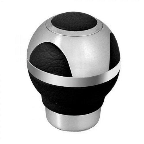 SK761 - Pommeau de Shift, le levier de vitesses, Crystal/aluminium/chrome/cuir
